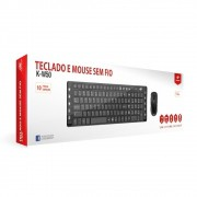 Kit Teclado+Mouse Sem Fio C3Tech K-W50BK
