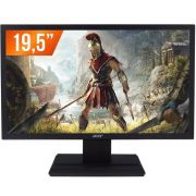 Monitor led acer 19,5  hd v206hql preto