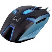 Mouse com Fio Gamer MO252, Warrior, AzulPreto, 4000DPI - Multilaser