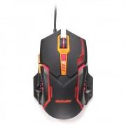 Mouse Gamer Multilaser 2400Dpi Preto e Laranja MO270
