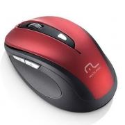 Mouse sem fio Comfort vermelho e preto MO239
