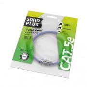 Patch Cord U/UTP Soho Plus Cat.5e 1,5M Azul