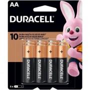 Pilha Alcalina Duracell AAA C/8