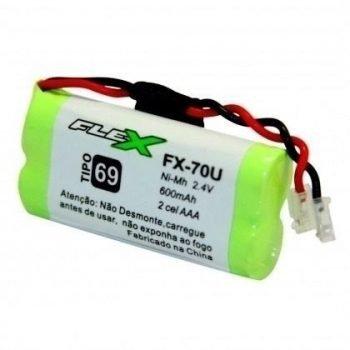 Bateria Telefone S/FIO 2,4V C/2 AAA Flex 600MAH