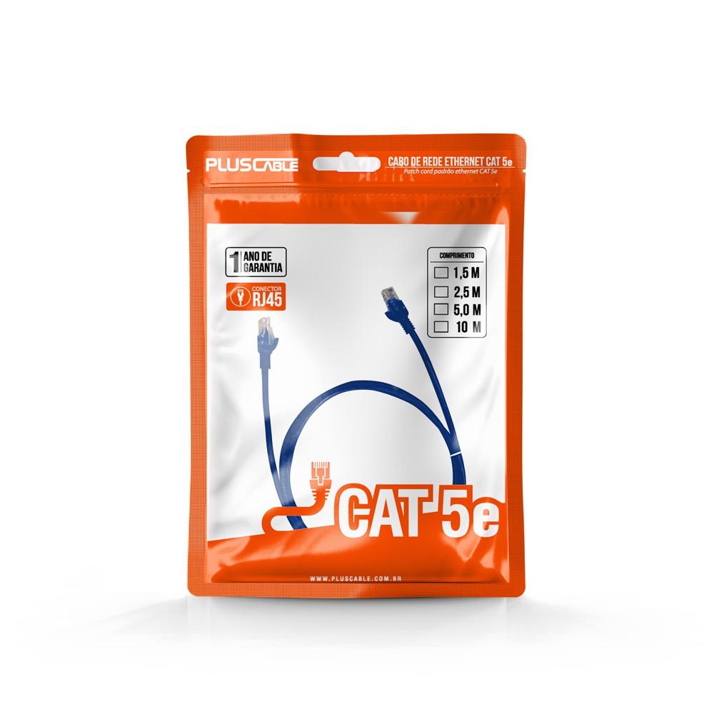 Cabo de rede Cat.5e 1,5M PlusCable Patch Cord