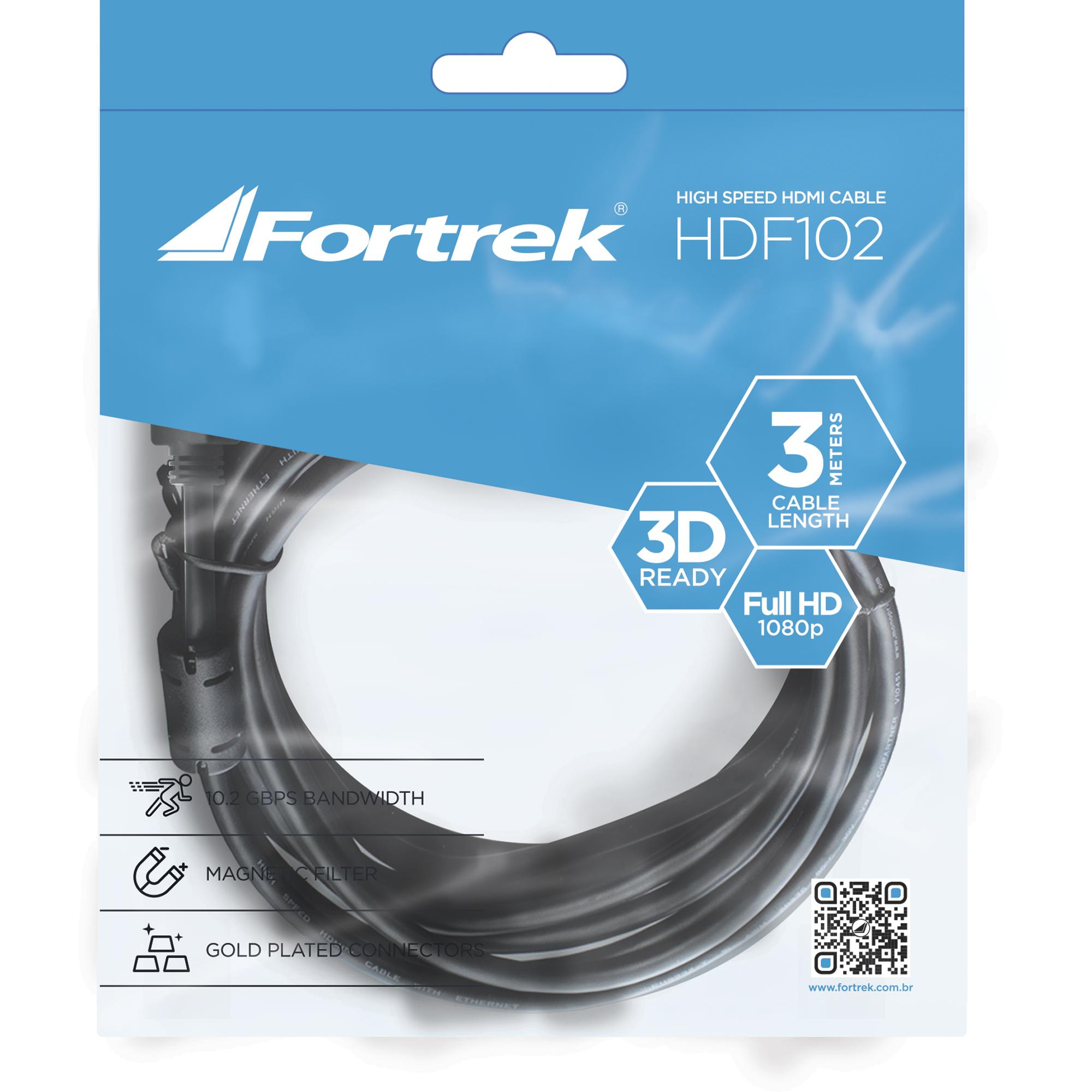 Cabo hdmi Fortrek 3D 3MT HDF102