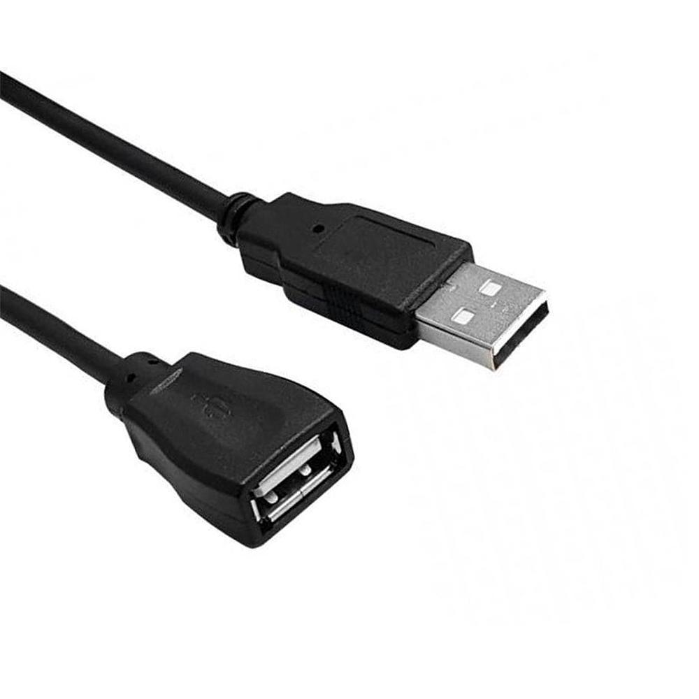 Cabo USB 2.0 A Macho x USB 2.0 A Femea 1,50m Preto CH Kokay