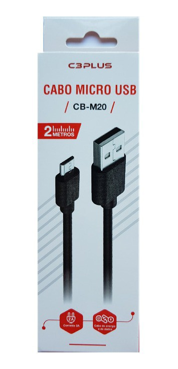 Cabo USB Micro-USB 2M CB-M20 C3Plus