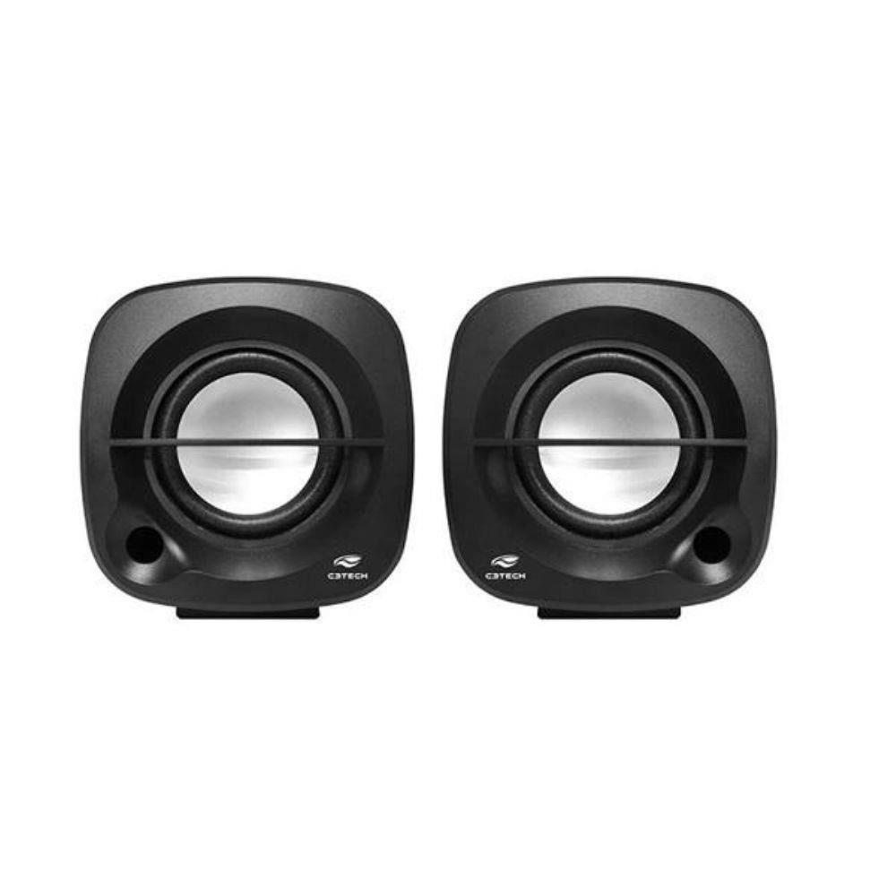 Caixa de Som C3 Tech 2.0 Speaker SP303-BK