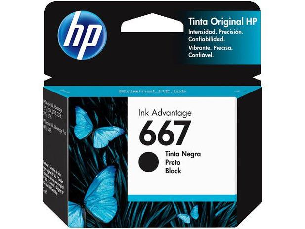 Cartucho de tinta HP 667 Preto