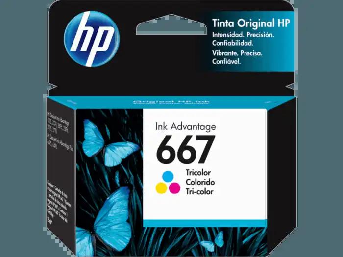 Cartucho HP 667 Colorido 3YM78AL