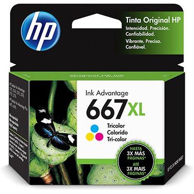 Cartucho HP 667XL Colorido
