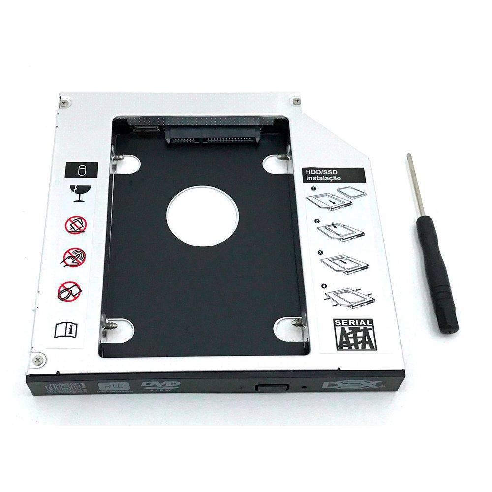Case Adaptador Caddy para HD ou SSD 12.7 mm para Notebook
