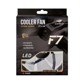 Cooler C3Tech F7-L130 LED Azul 12x12x25cm