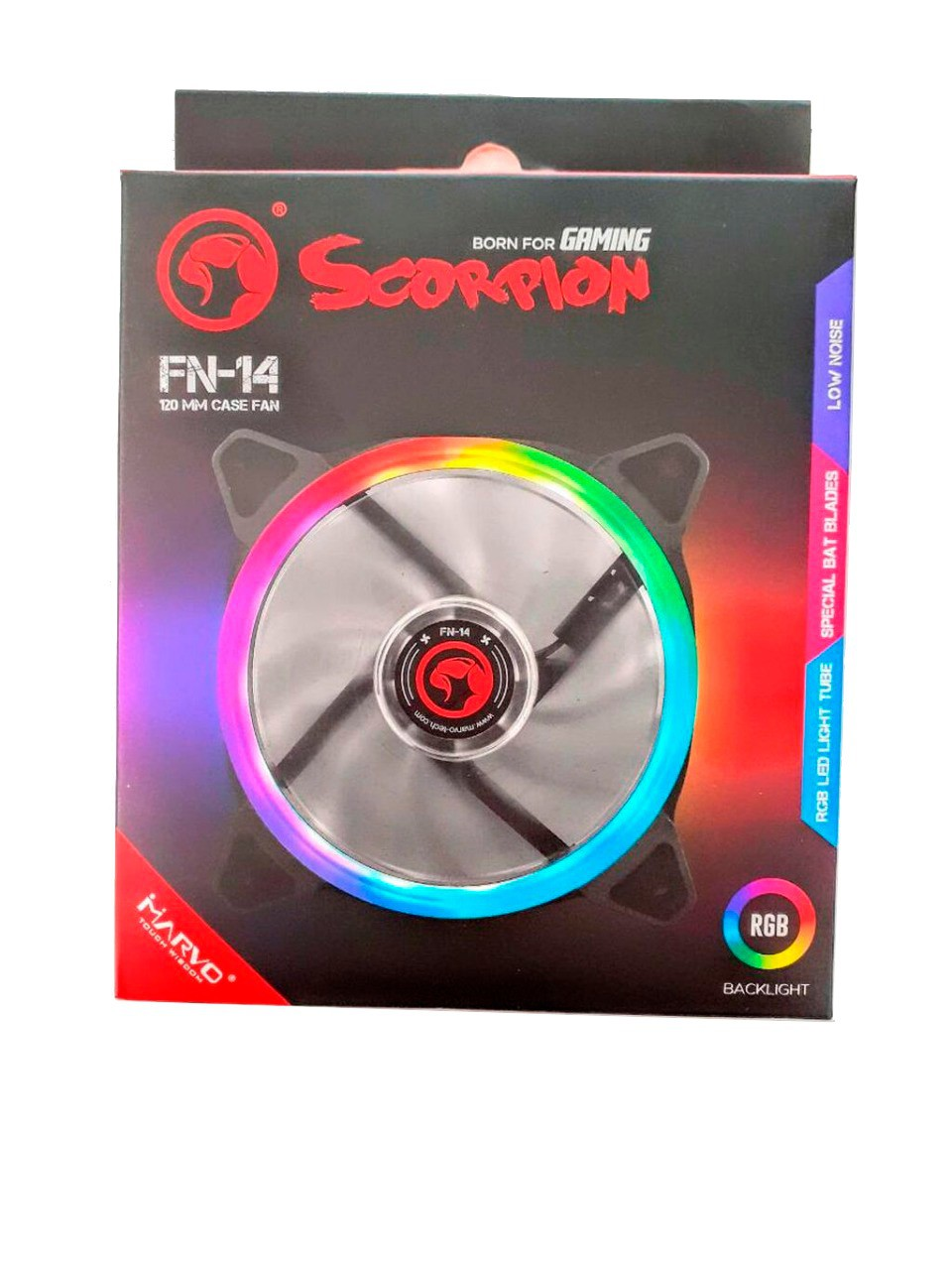 Fan 120x120x25mm Marvo Rgb Fn-14