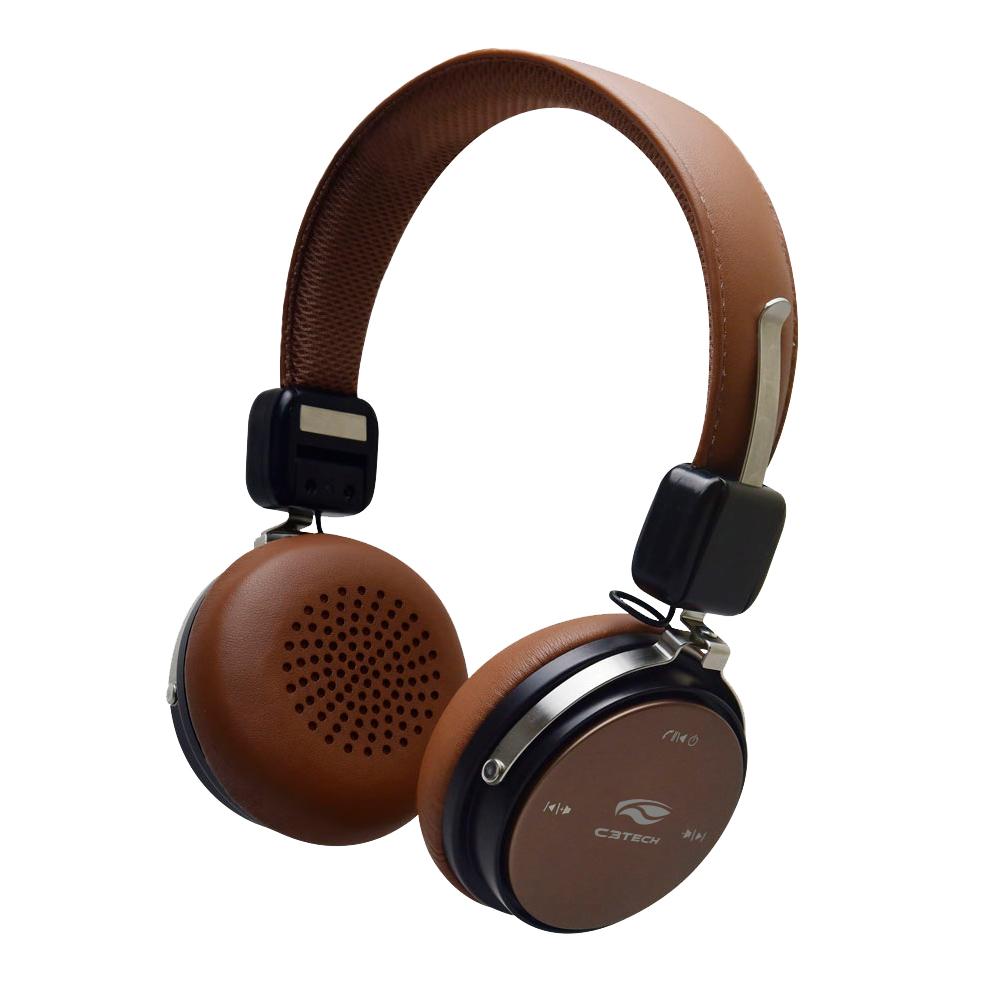 Fone De Ouvido Bluetooth PH-B600BW 4.2 Marrom C3Tech