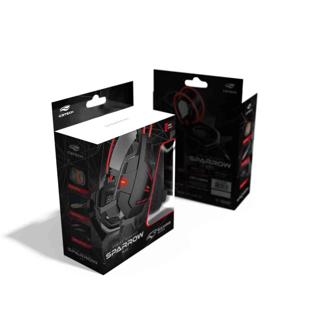 Fone de Ouvido Gaming Headset com Microfone C3Tech Sparrow Preto - PH-G11BK - PH-G11BK