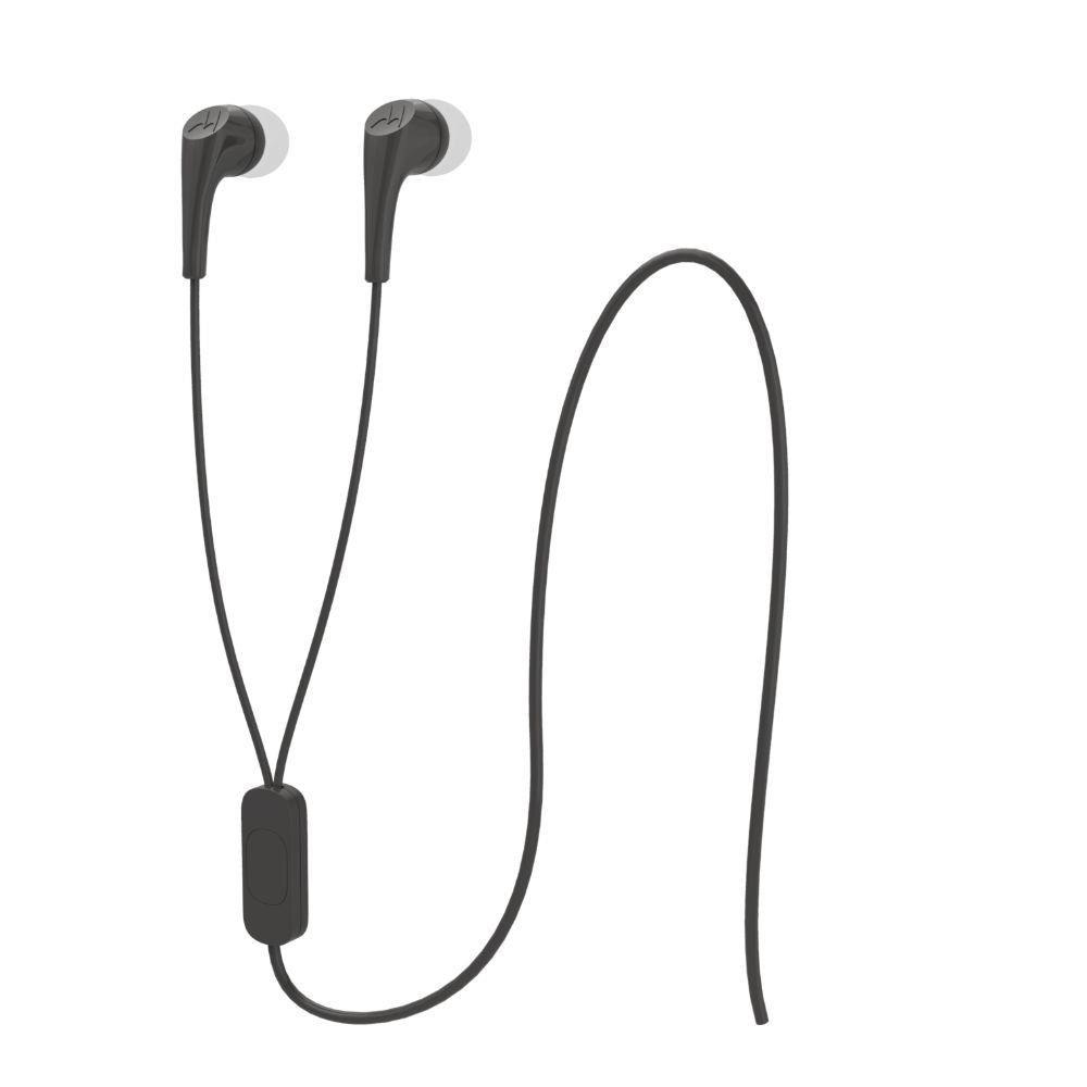 Fone de ouvido Motorola Estereo Earbuds 2 - Preto