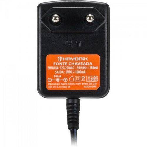 Fonte 5vdc 1a Chaveada Imp P8 C+ 2,5mm