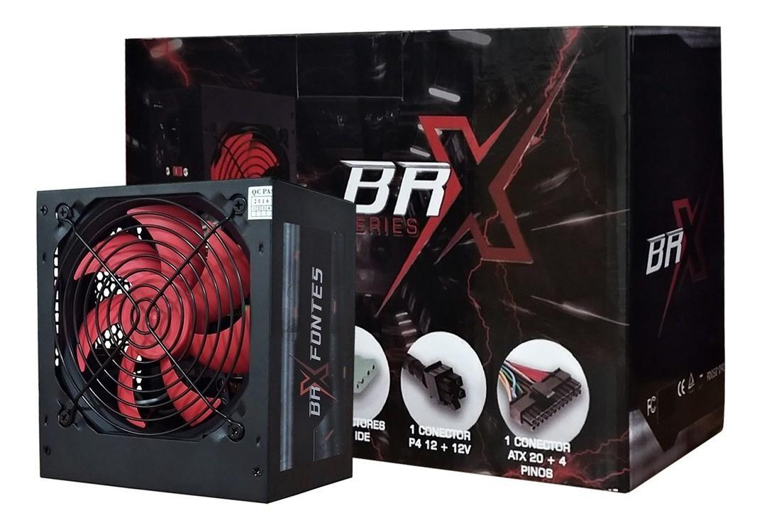 Fonte BRX ATX 650W Real Automática PFC