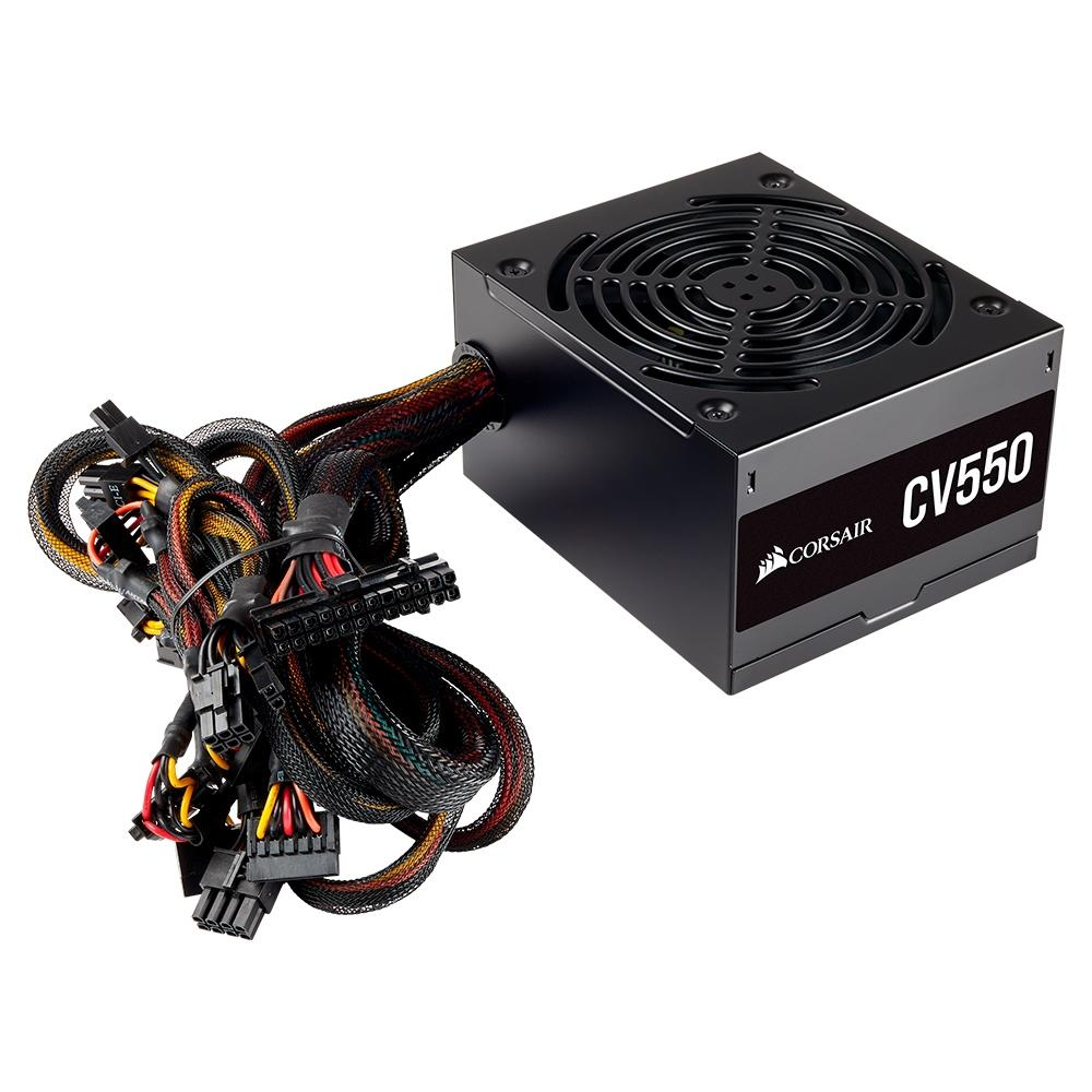 Fonte Corsair CV550, 550W, 80 Plus Bronze - CP-9020210-BR
