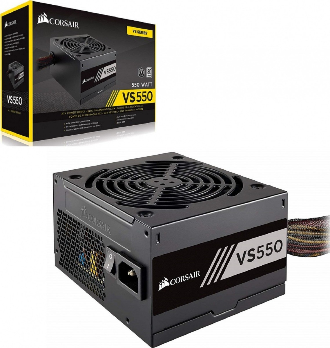 Fonte Corsair VS550 80 Plus White ATX