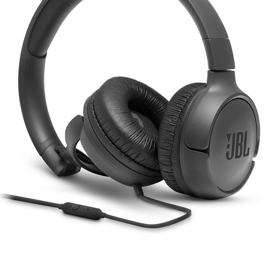 Headphone JBL Tune, 3.5m, Preto - JBLT500BLK