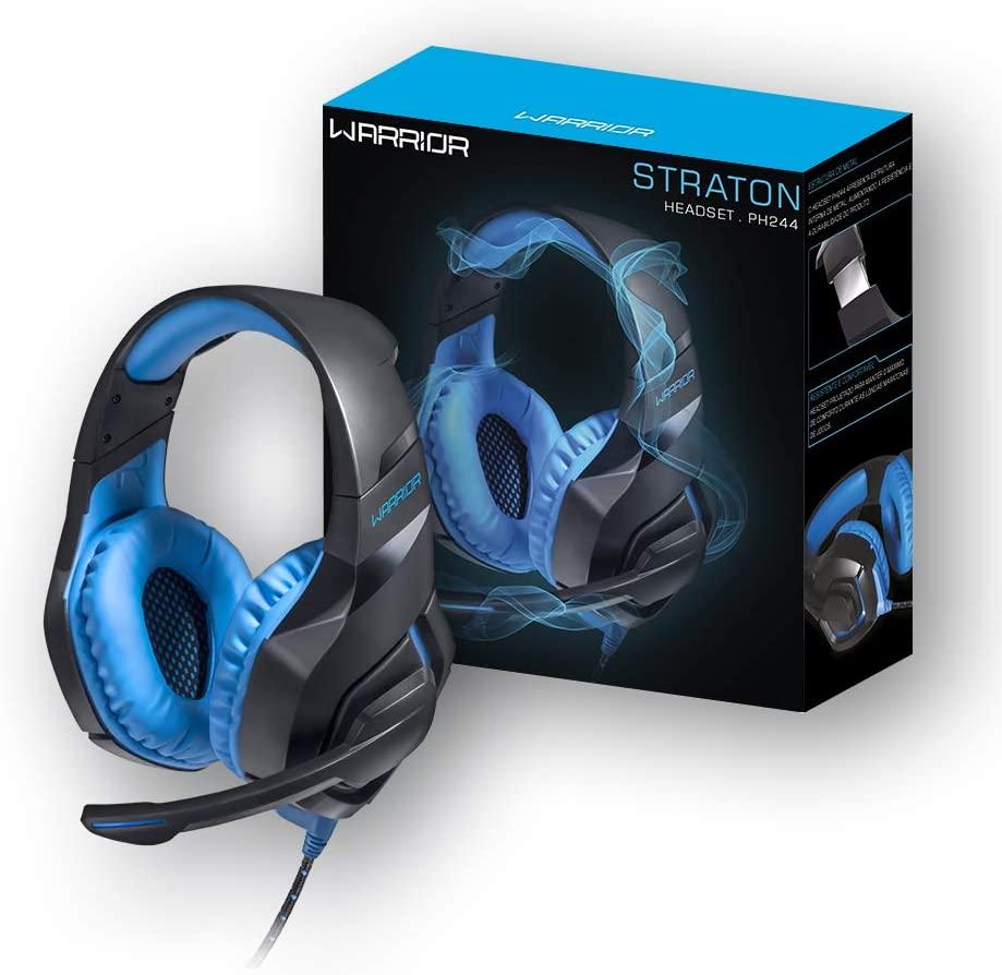 Headset Warrior Straton Gamer LED Azul