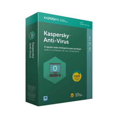 Kaspersky Antivirus - licença de 1 ano - para 5 PCs