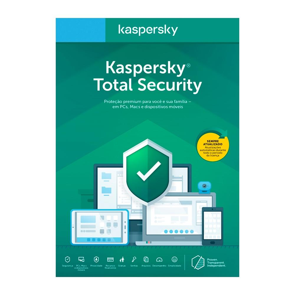 Kaspersky Total Security Multidispositivos - 5 Dispositivos 1 Ano