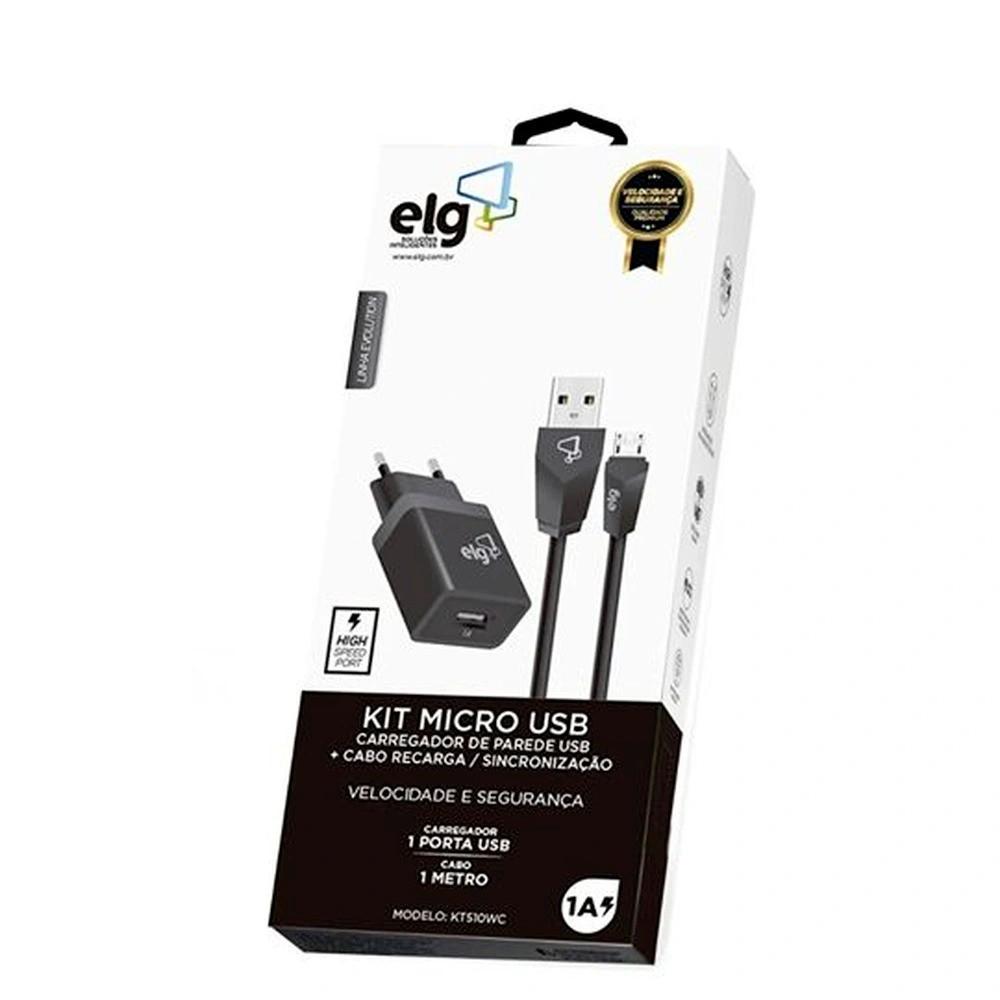 Kit Elg Carreg. Parede + Micro USB KT510WC