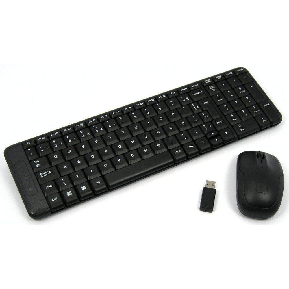 Kit Tecl+Mouse S|Fio Mk220 Preto Logitech