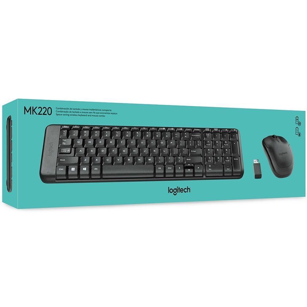 Kit Tecl+Mouse S Fio Mk220 Preto Logitech