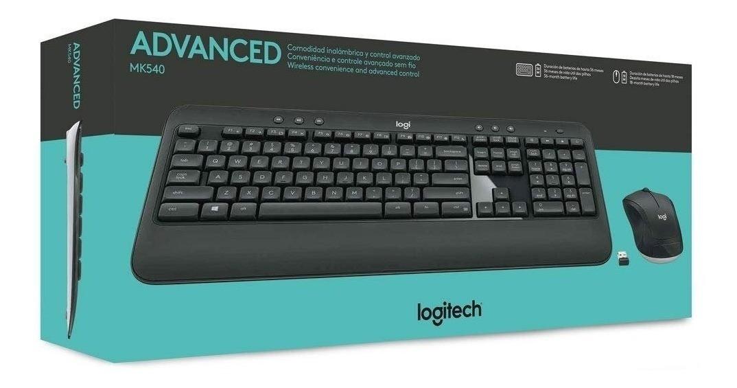 Kit Tecl+Mouse S Fio Mk540 Preto Logitech