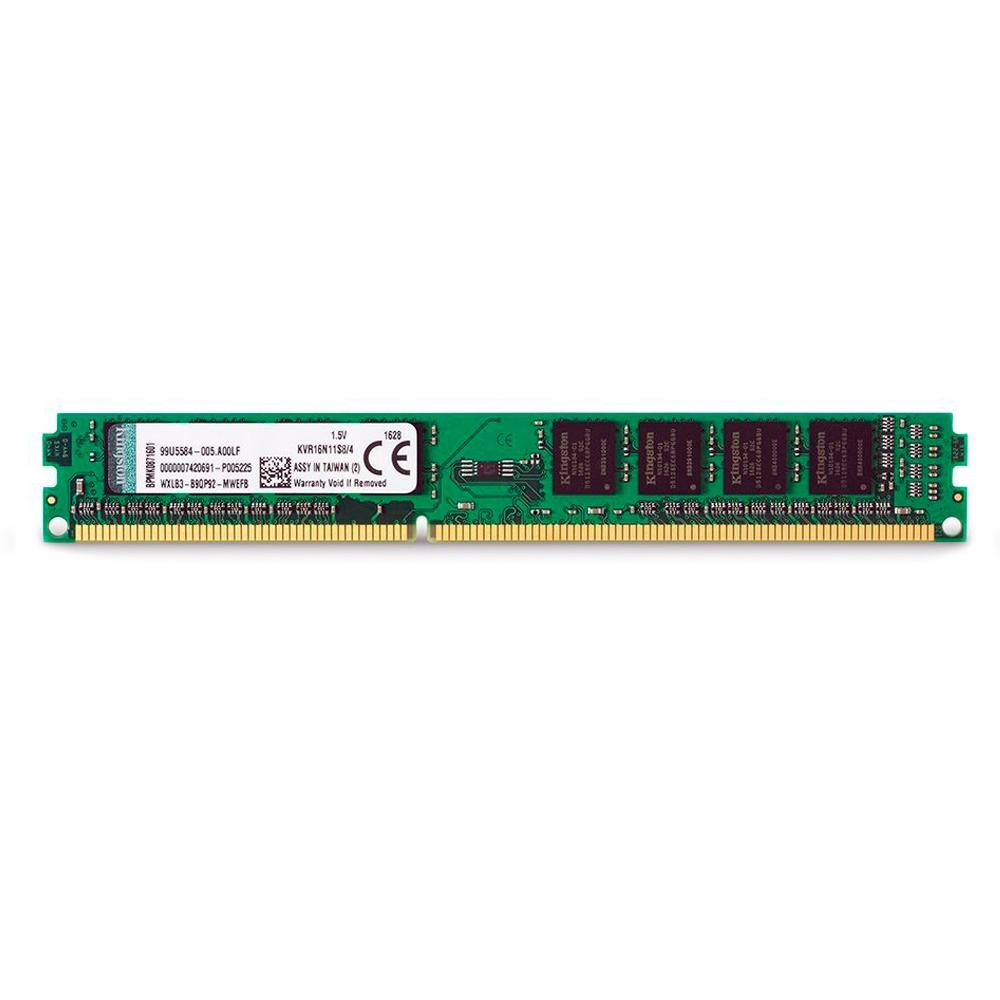 Memória Kingston 4GB, 1600MHz, DDR3, CL11 - KVR16N11S84