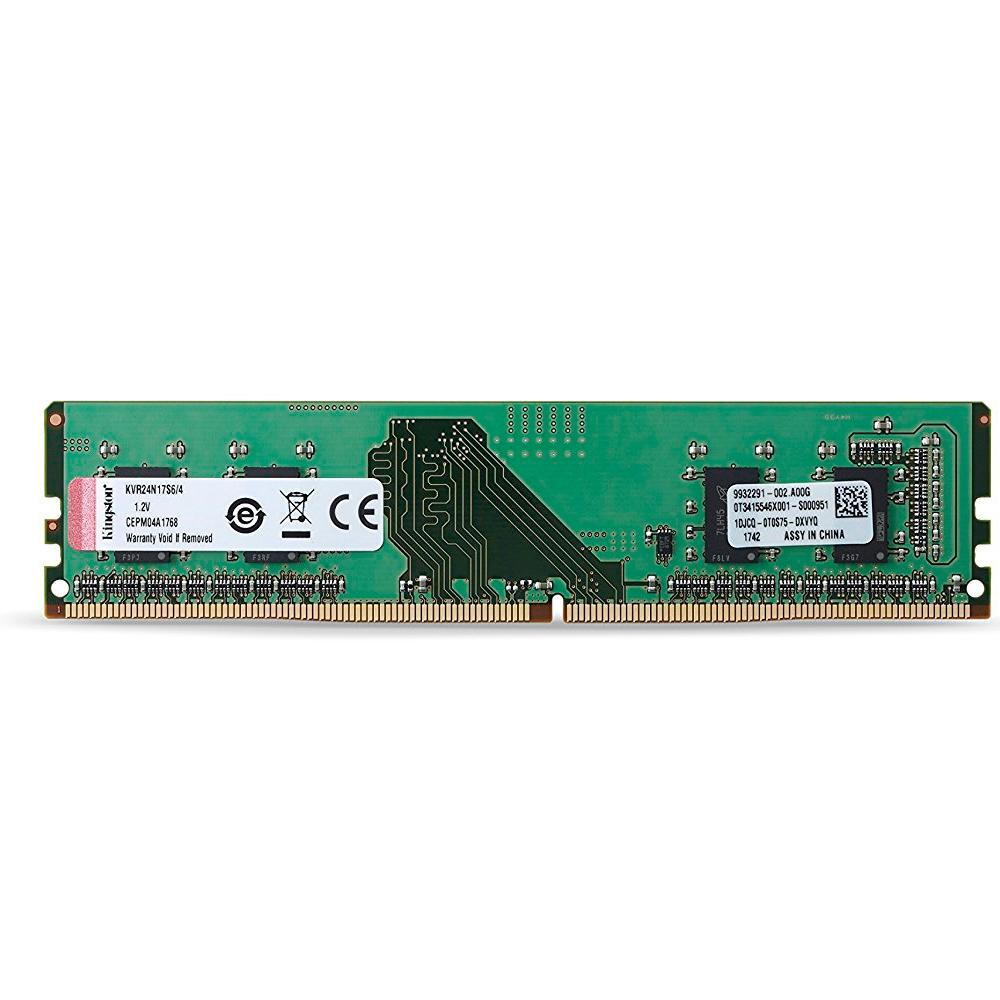 Memória Kingston 4GB, 2400MHz, DDR4, CL17 - KVR24N17S6/4