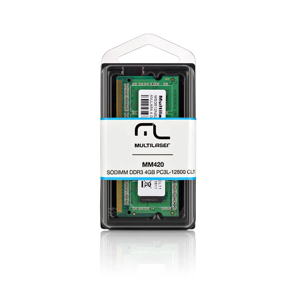 Memória RAM Notebook 4GB DDR3 Sodimm 4gb 1600Mhz Multilaser