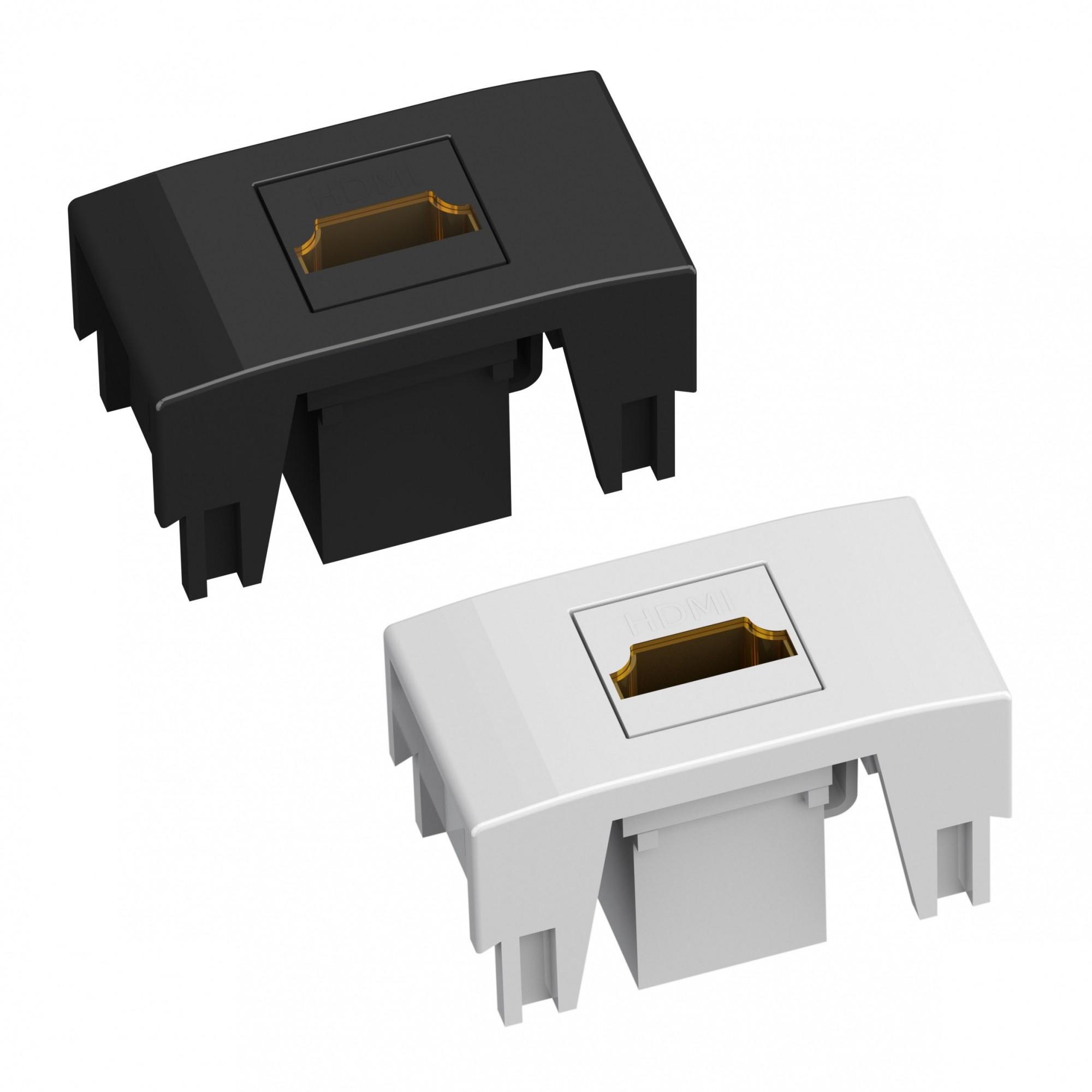 Módulo HDMI P/Caixa de Tomada - Preto
