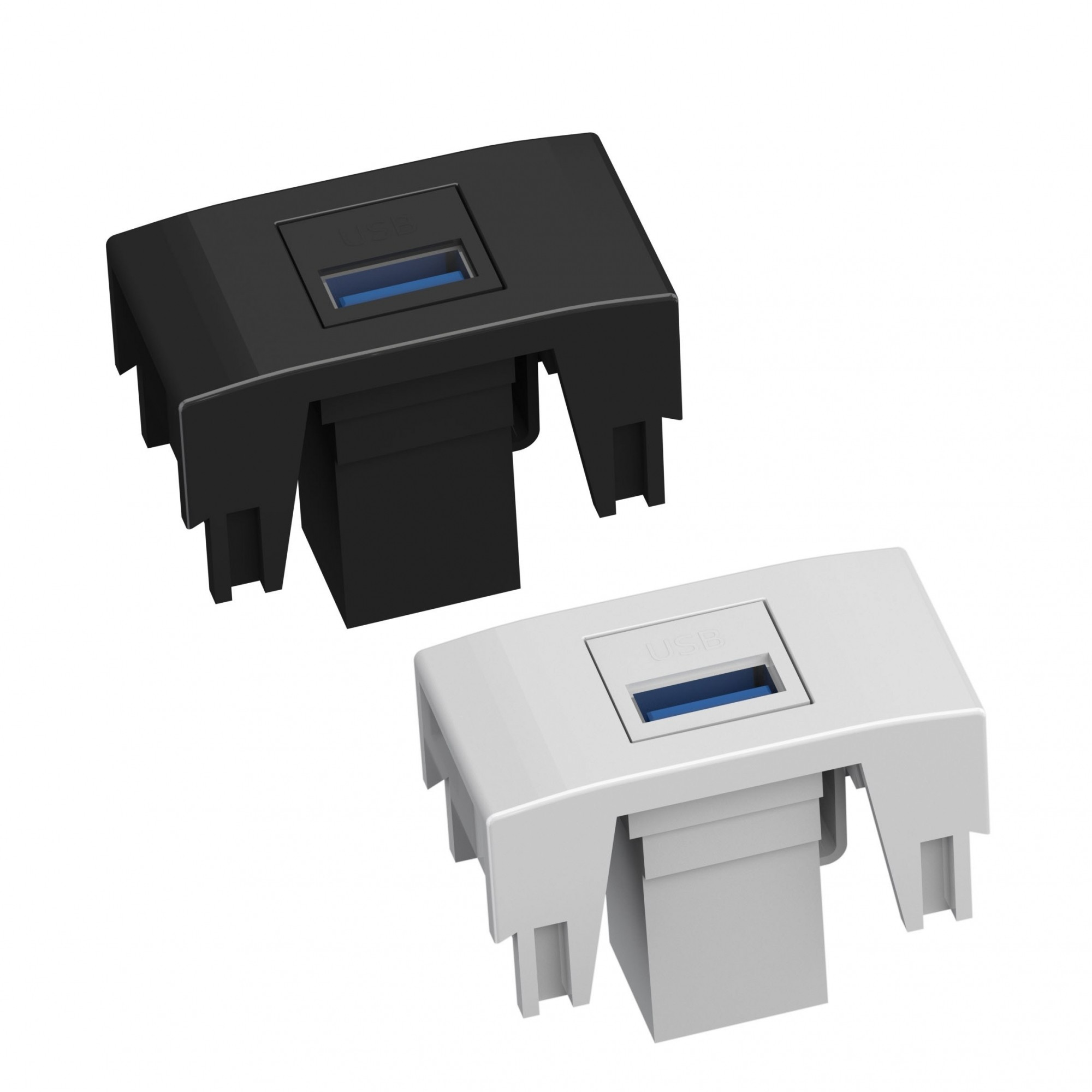 Módulo USB 3.0 P/Caixa de Tomada - Preto