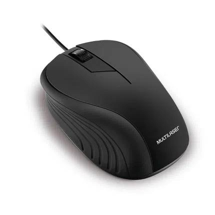 Mouse Emborrachado Preto USB MO222 Multilaser