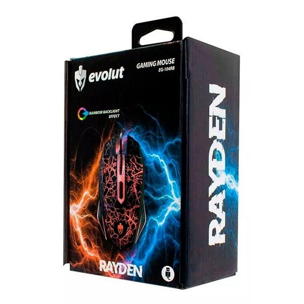 Mouse Gamer Evolut EG-104RB Rayden com Fio