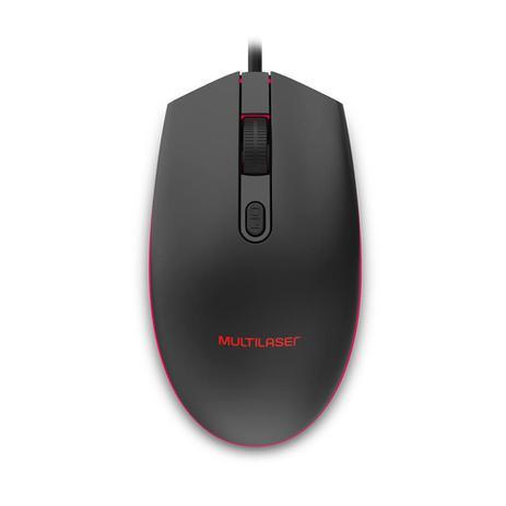 Mouse Gamer Multilaser 2400Dpi LED 7 cores