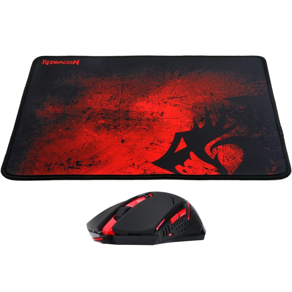 Mouse Gamer Redragon com MousePad M601BA