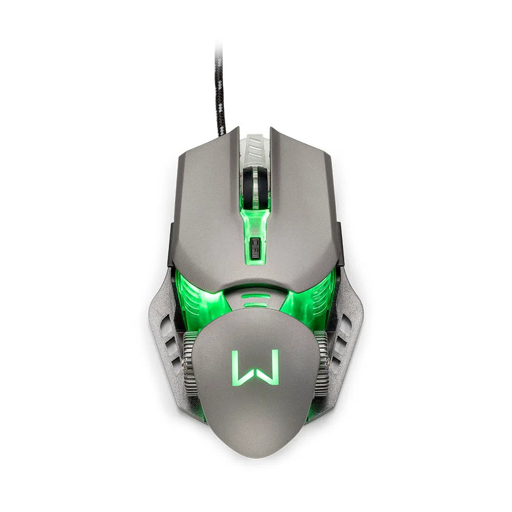 Mouse Gamer Warrior Keon 3200Dpi Grafite MO268