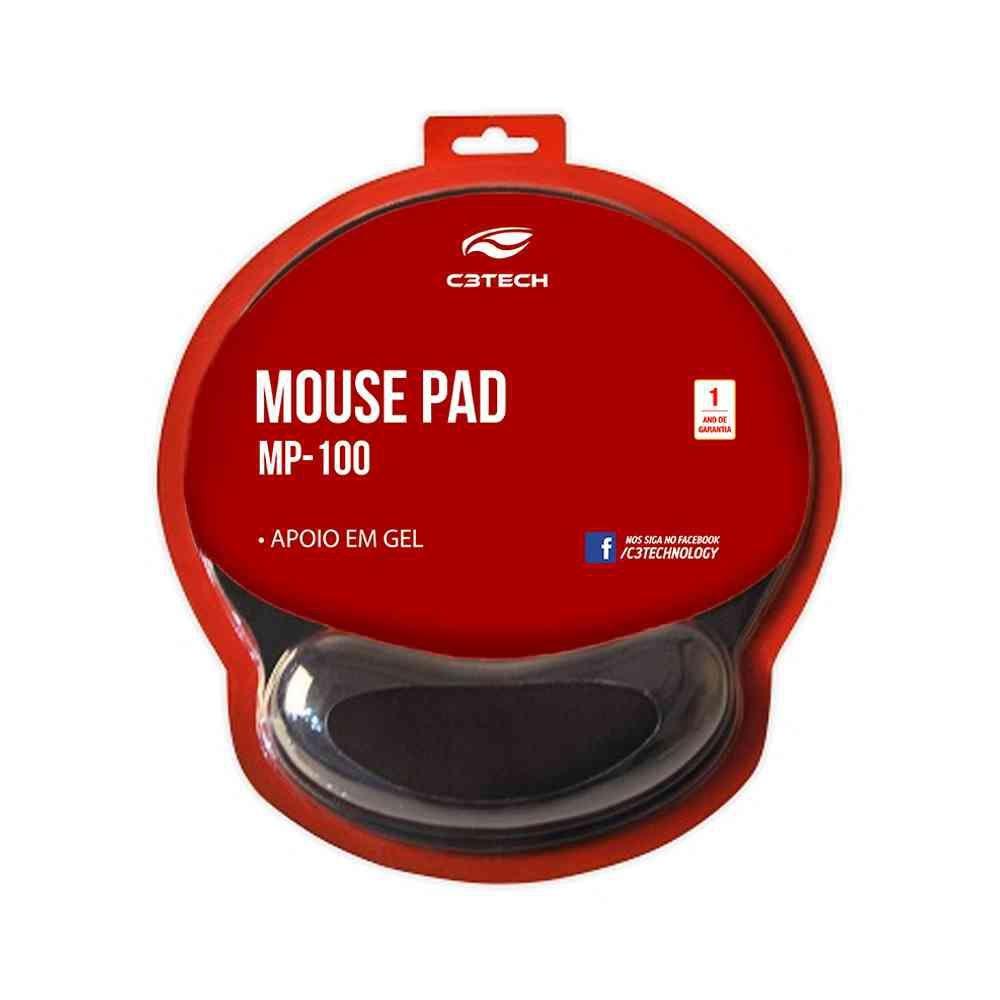Mouse Pad com apoio em gel MP-100 C3Tech