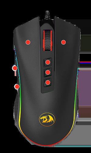 Mouse Redragon Cobra M711 Preto