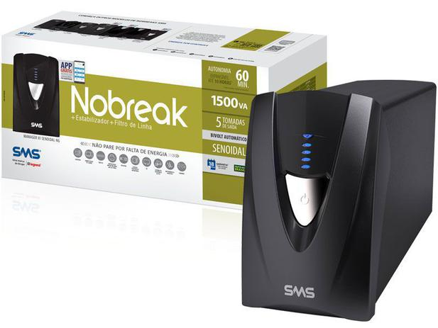 Nobreak SMS Senoidal 1500VA Manager III Bivolt