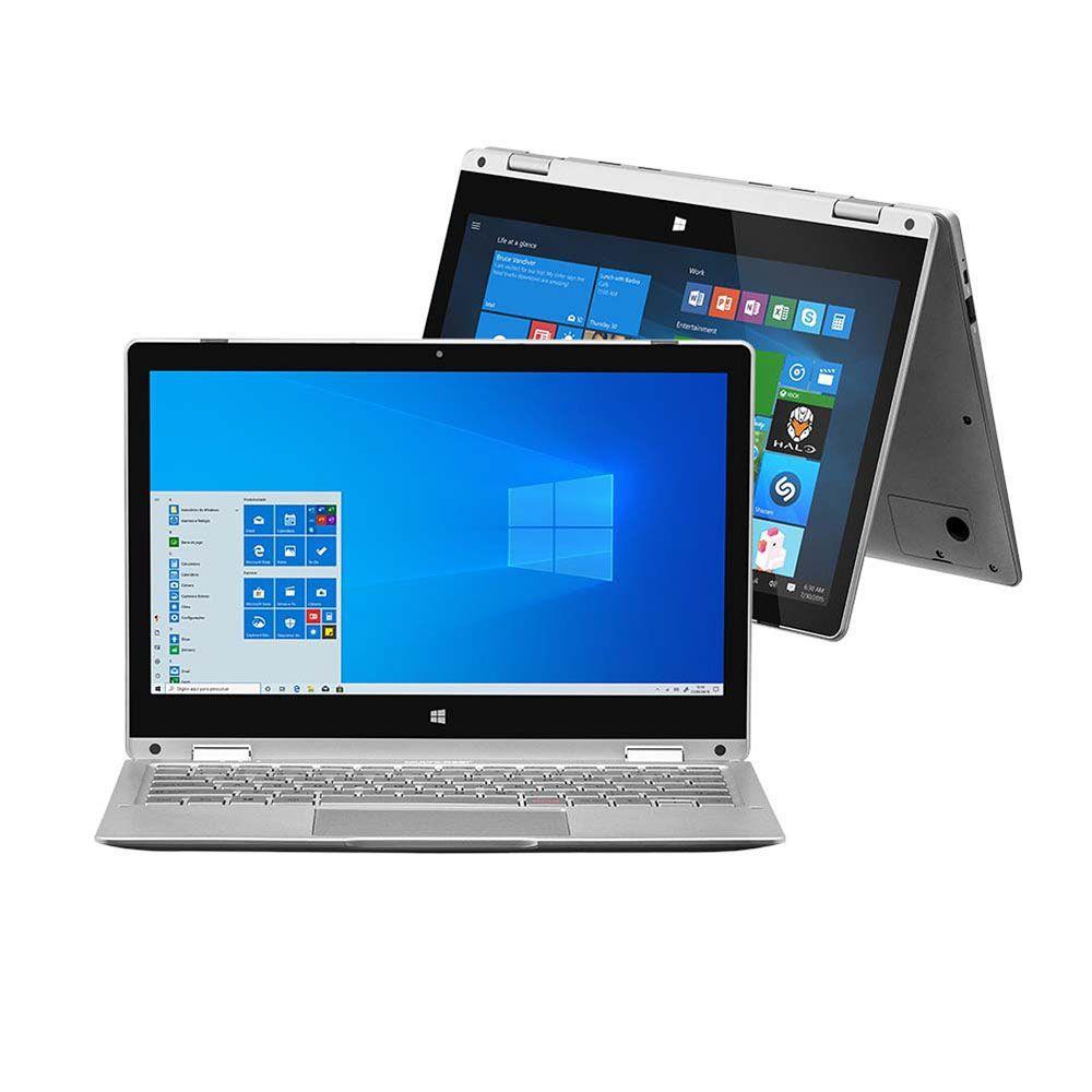 Notebook M11W Prime 2 em 1 4Gb 64Gb 11,6 DC Win 10