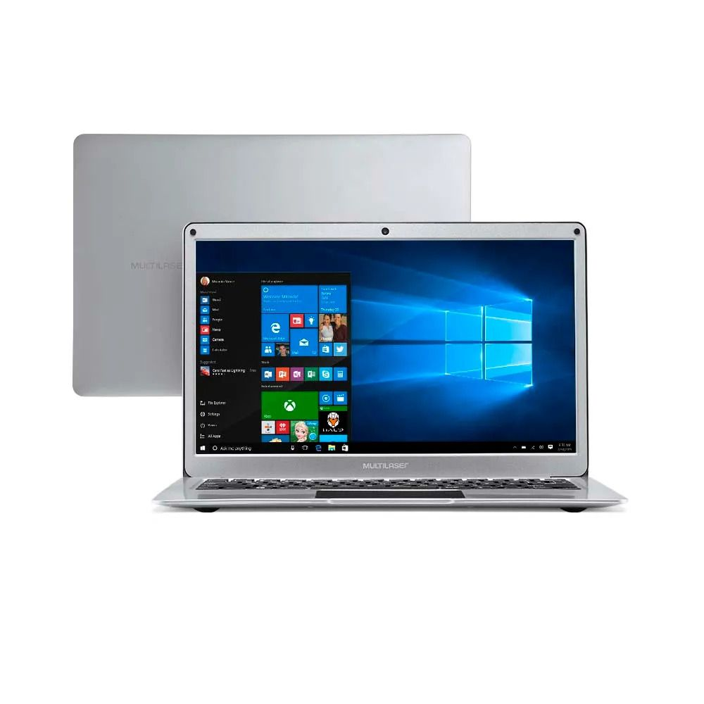 Notebook Multilaser Legacy Air Intel Celeron 4GB 64GB 13.3 Pol. Full HD Windows 10 Prata - PC222