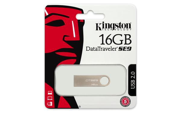 Pen Drive 16Gb Kingston Metal Casing  DTSE9H/16GB